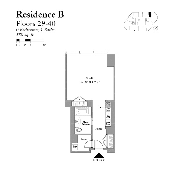 Studio Floor Plans condos chicago | trump studio condos